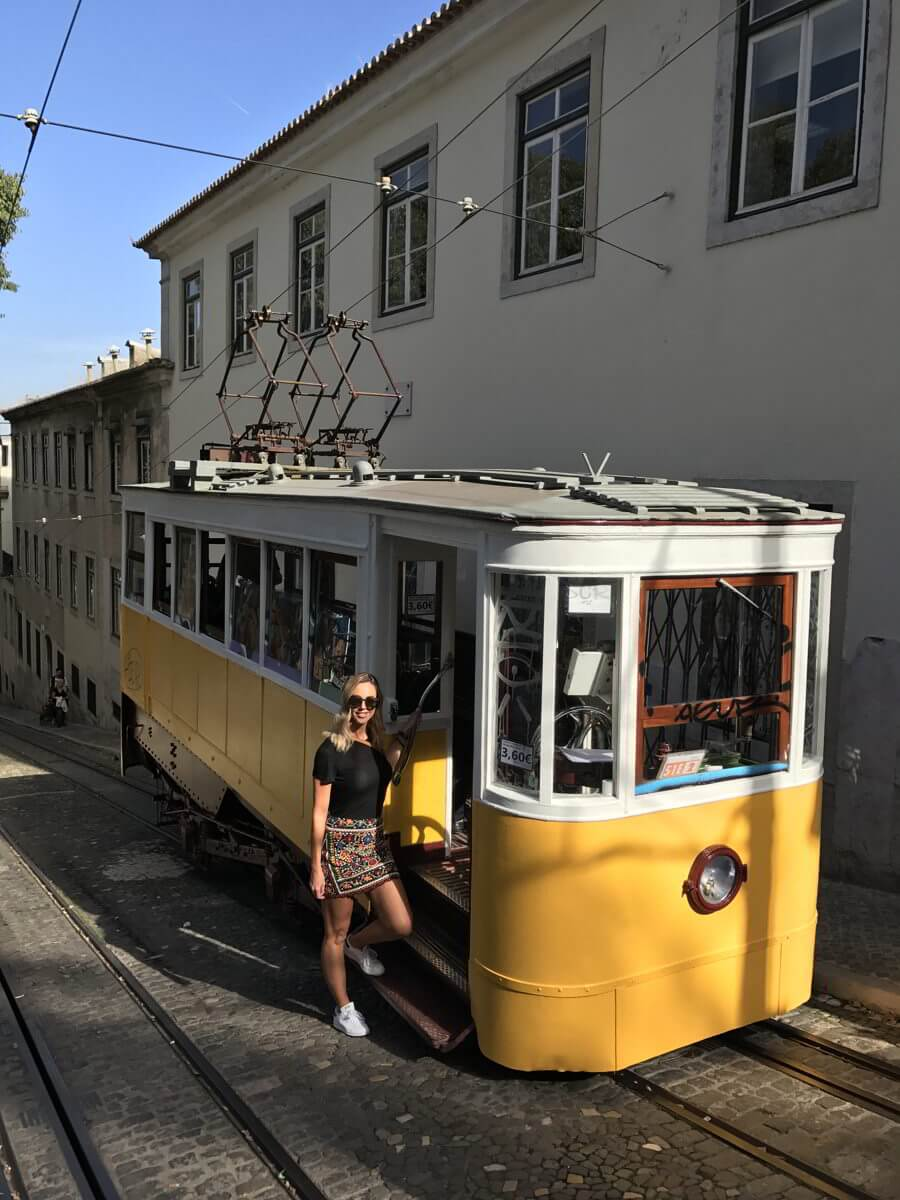 Lisbon Portugal Yellow Trams Huber City